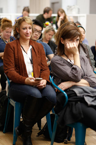 <p>Audience at the Policy Genius/Fast Company Innovation Festival event.</p>