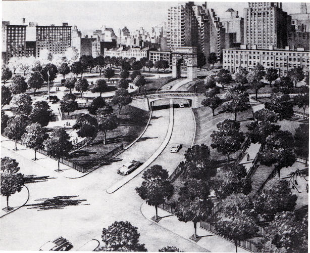 <p>5th Avenue Extension by Robert Moses, c. 1952</p>