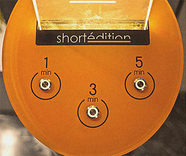 <p>The Short Stories Distributor machine gives you a random short story at the press of a button,</p>