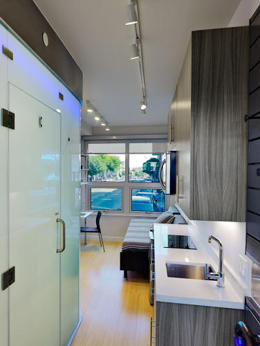 <p>Several of the details are inspired by the company's experience building other micro-apartments.</p>