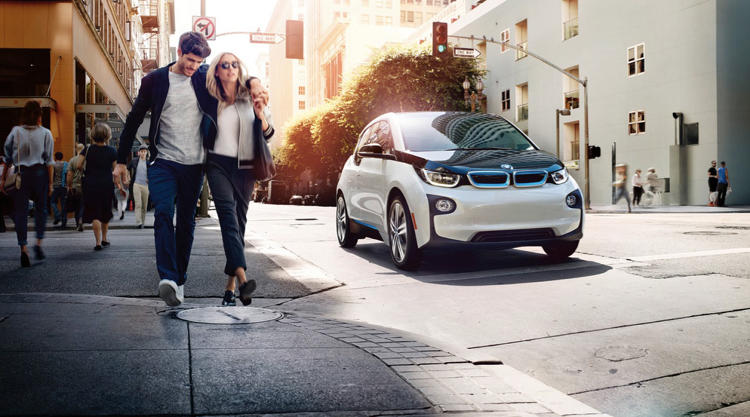 <p>It includes four i3s, the car company's elegant new electric vehicle.</p>