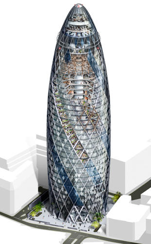 <p>Foster+ Partners, <em>30 St. Mary Axe</em>.</p>