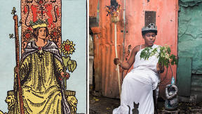 Haitian Artists Turn Mystical Tarot Paintings Into Real-Life Scenes
