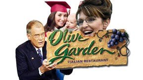 Will the Letterman-Palin Clash Take a Bite Out of Olive Garden?