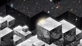"Reimagining The Eames ""Powers of Ten"" Video As A Universe of Cubes"