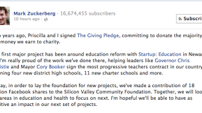 Mark Zuckerberg Donates Half A Billion Dollars' Worth Of Stock To Charity