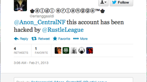 Anonymous Is Hacked By Rustle League
