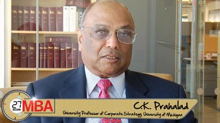 C.K. Prahalad: How do you think about sustainability?