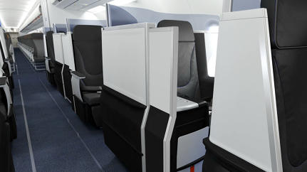 "JetBlue Unveils First-Ever Business Class ""Suite Seat"" With Sliding Door"