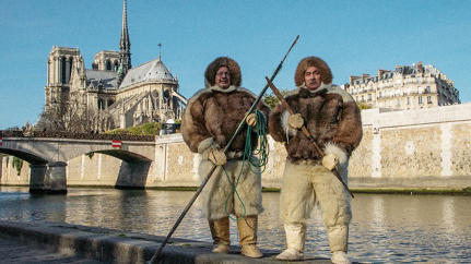Why This Artist Trained A Team Of French Poodles To Pull An Inuit Sled Through Paris