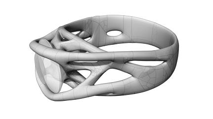 This Innovative Engagement Ring Was Made With A 3D Printer
