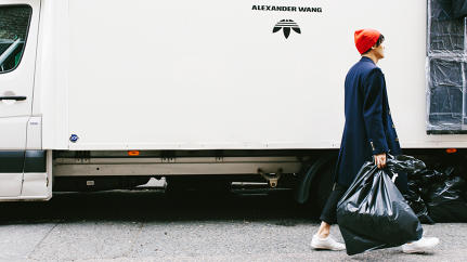 Why Alexander Wang's Adidas Collection Was Sold In Unmarked Trucks And Trash Bags